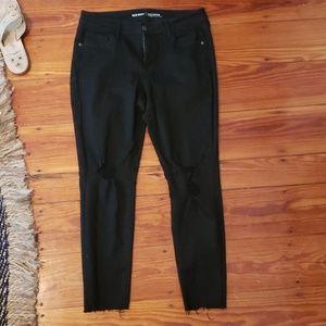 Old navy black distressed skinny jeans